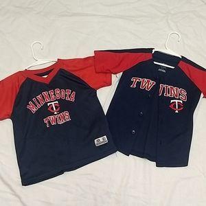 MN Twins Baseball Jersey Bundle - 3T